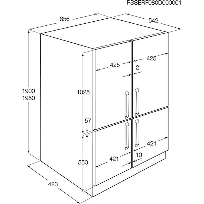 холодильник Sbs Bild In Electrolux Enx 4596 Aox купить по низкой